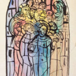 Design for Window at St. Mary's Parish Church, Kingscourt by Evie Hone