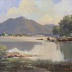 Donegal Lake and Mountain Landscape by George Gillespie