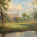 View of Armagh Cathedral by Frank McKelvey