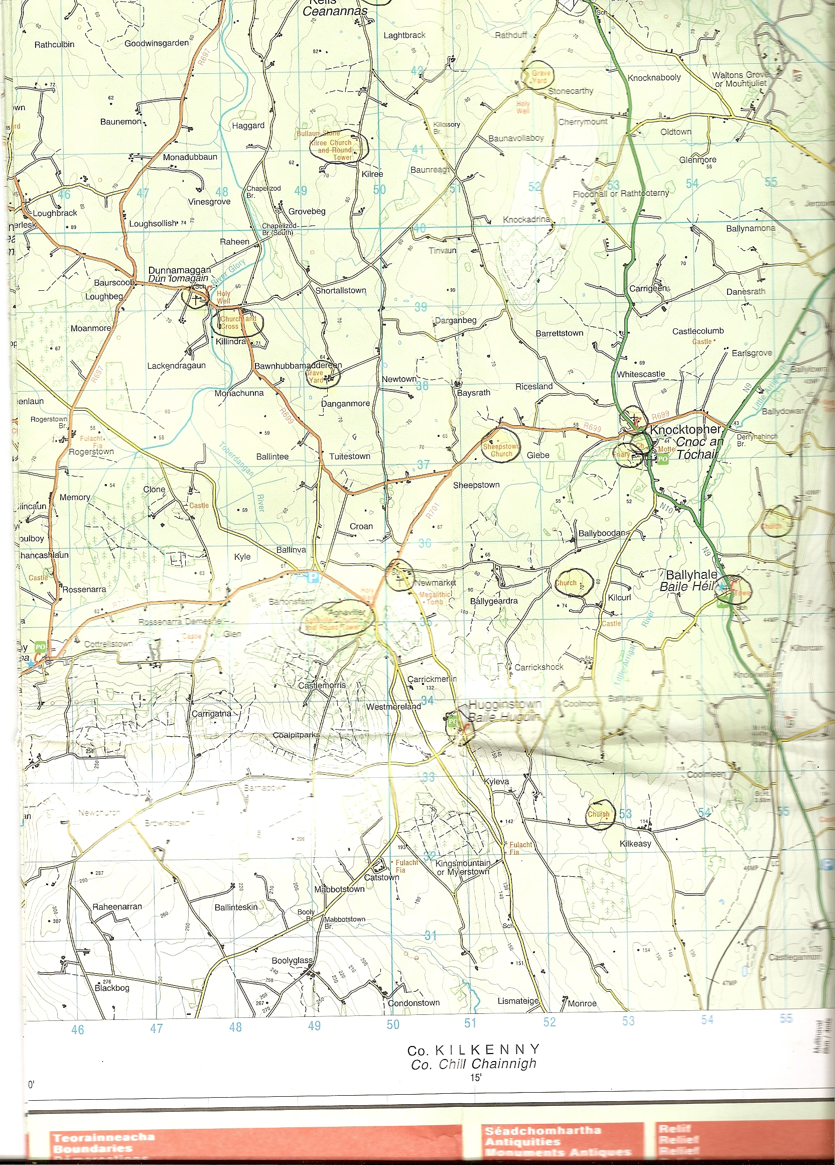 Os Map Of Ireland.Ordnance Survey Discovery Series Maps Co Kilkenny