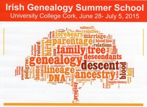 Dr. Jane Lyons will speak at Anncestral Connections: Irish Genealogy Summer School at University College, Cork, from June 28 - July 5, 2015. Jane will present on Wednesday July 1, between 2.00 and 6.00 pm at the event Afternoon Field Trip: Exploring Youghal, Archives & Graveyards.